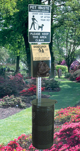 commercial pet waste station